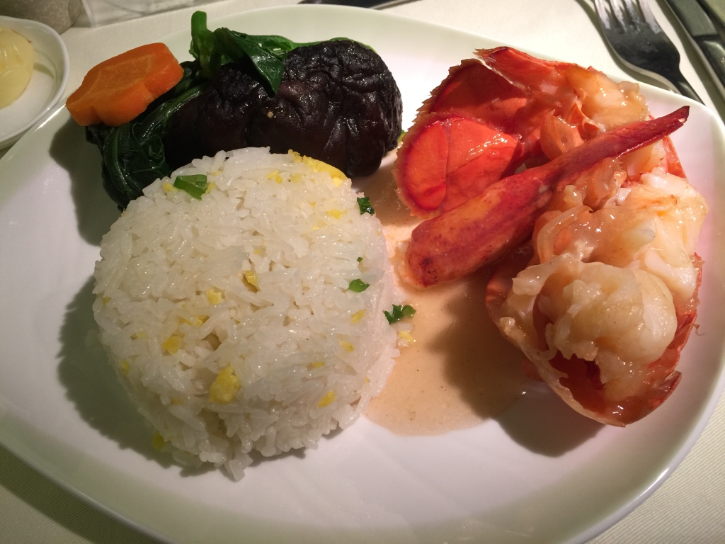 Oriental Lobster with Seasonal Vegetables and Egg Fried Rice