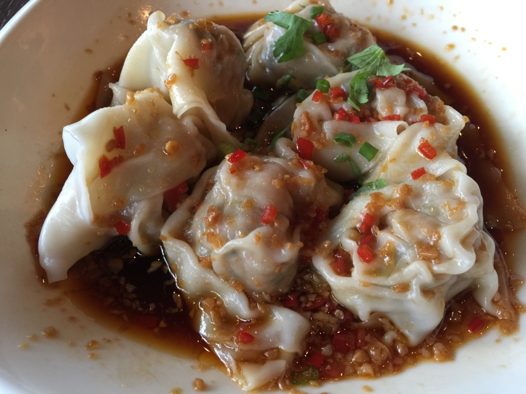 Pork Dumpling with Hot Chili Vinaigrette