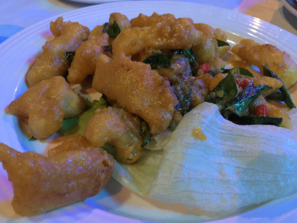 Calamari with Salted Egg Crust
