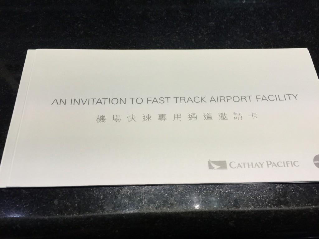 Fast Track Pass