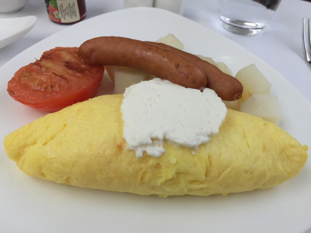 Ricotta Omelet with Sausage