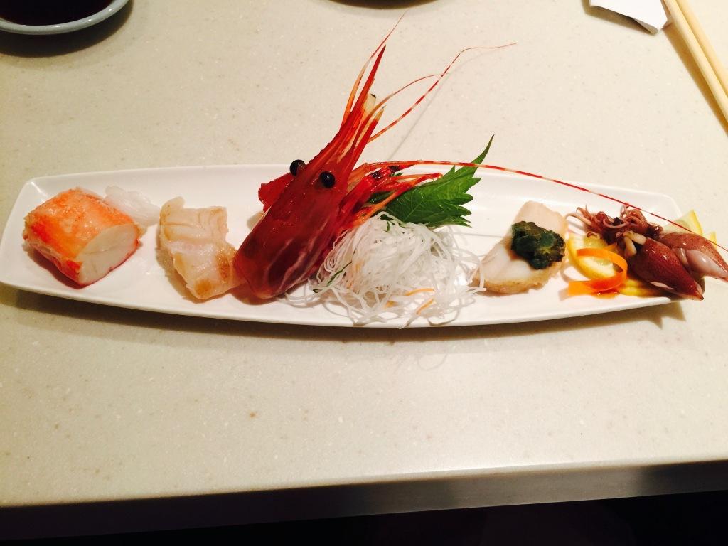 Alaskan King Crab, Giant Clam, Tuna, Ame Ebi, Firefly Squid